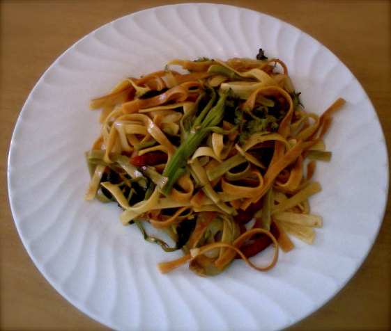 A New Take on an Old Favorite - Sauteed Broccoli Rabe and Fettucini