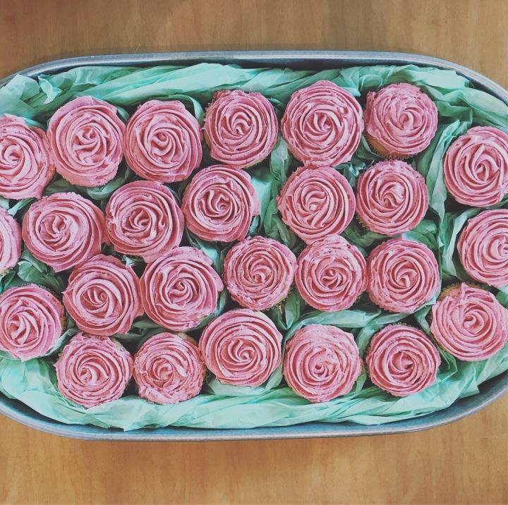 Raspberry Rosé Cupcakes